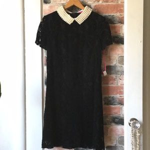 Betsy Johnson Black Lace Shift Dress